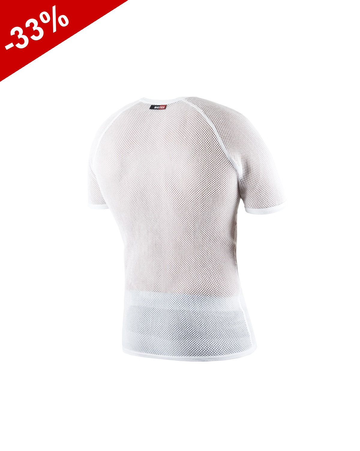 Sous Couche BIOTEX POWER Manches Court - Blanc
