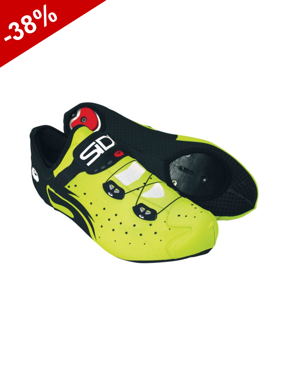 SIDI couvre chaussure WIRE LYCRA - Jaune Fluo