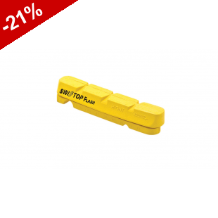 PATINS SWISS-STOP FLASH CARBONE - Jaune