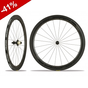 ROUES CARBONE SUPRA RFC DARK ELITE 55 mm - pneus