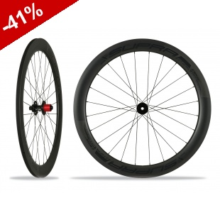 ROUES CARBONE SUPRA RFC DARK ELITE 58 mm DISC - pneus